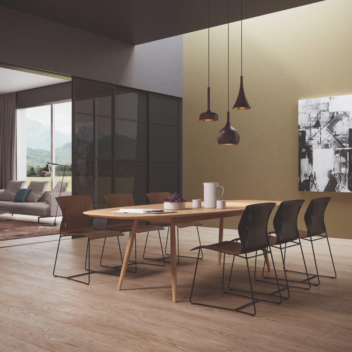 Moualla Table. Design: Neptun Ozis. Cuoio Chair. Design: EOOS.